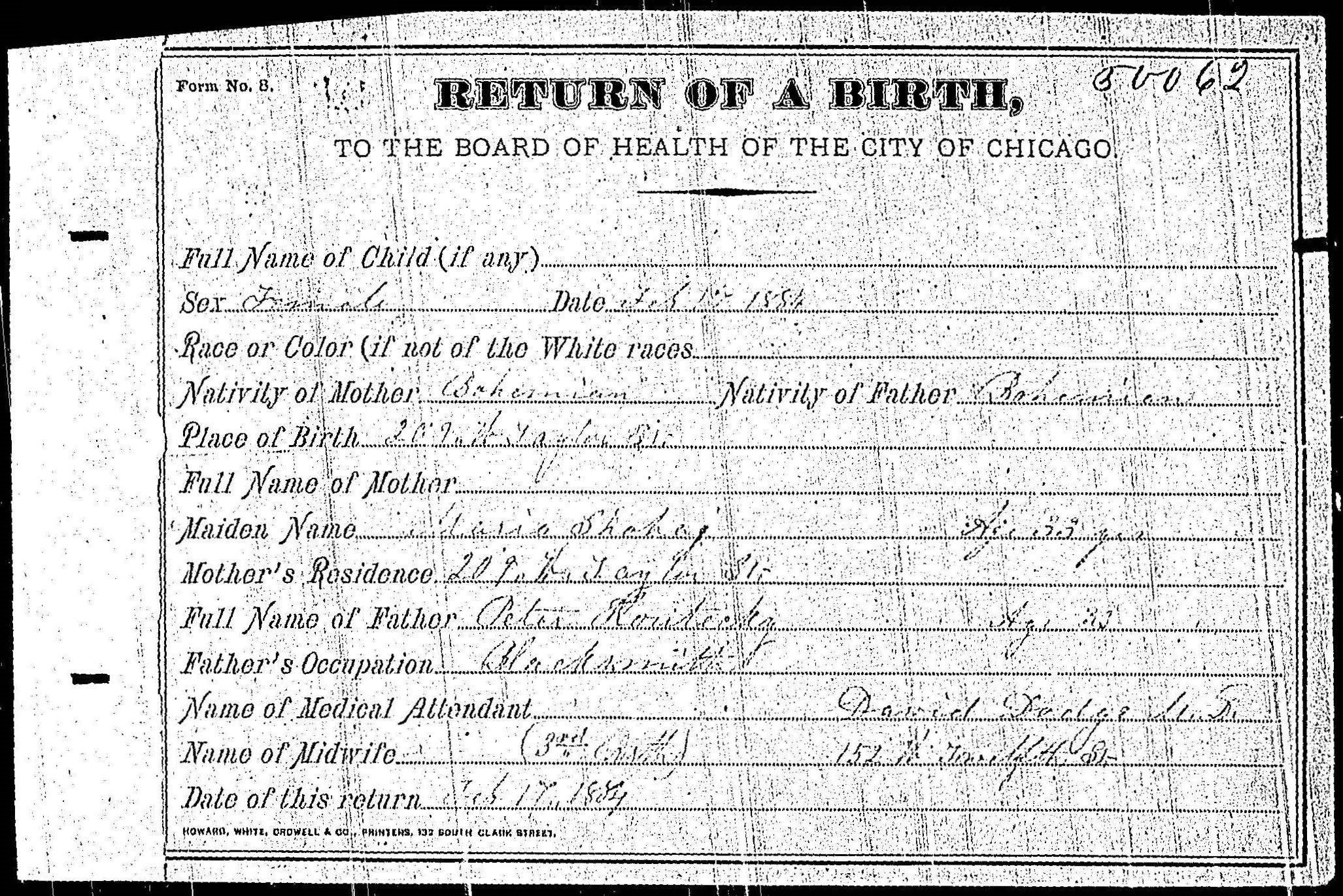 Source images for descendants of peter koutecky petr kouteck usa il a 00157 birth certificate of unnamed koutecky daughter 1884 aiddatafo Image collections