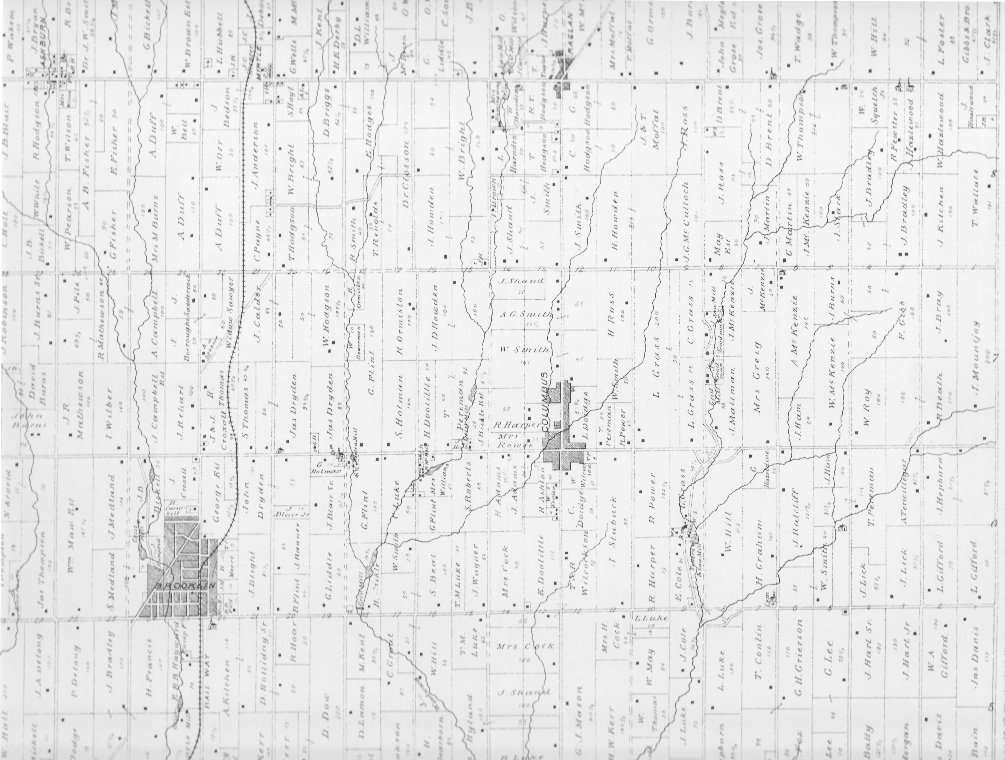 The English Corners Project Columbus Ontario  A pre1840